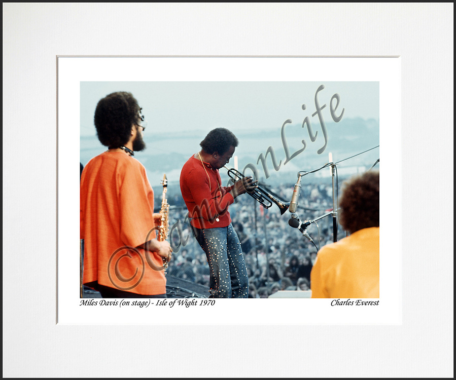"""Miles, Gary & Chick - An affordable archival quality matted print ready for framing at home.<br />  Ideal as a gift or for collectors to cherish, printed on Fuji Crystal Archive photographic paper set in a neutral mat (all mounting materials are acid free conservation grade). <br />  The image (approx 6""""x8"""") sits within a titled border. The outer dimensions of the mat are approx 10""""x12""""."""