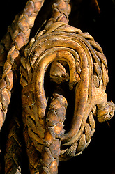close up of a rope wrapped in place