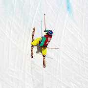 Nils Lauper, Switzerland, in action in the Men's Halfpipe Finals during The North Face Freeski Open at Snow Park, Wanaka, New Zealand, 3rd September 2011. Photo Tim Clayton...