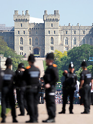 All eyes are on Windsor Castle this morning in the final lead up to the hugely anticipated wedding between Prince Harry and Meghan Markle.<br /><br />19 May 2018.<br /><br />Please byline: Vantagenews.com