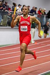 BU Terrier Indoor track meet<br /> 4x400 relay, Boston U, Cameron Nurse