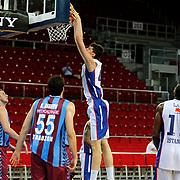 Anadolu Efes's Emircan Kosut (C) during their friendly match Anadolu Efes between Trabzonspor at Abdi Ipekci Arena in Istanbul Turkey on Saturday 16 May 2015. Photo by Aykut AKICI/TURKPIX