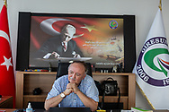 Prof. Dr. Musa Genç at his office at Giresun university's tourism faculty. Dr. Genç is heavily focused on populations around the world who communicate through whistling, commonly known as 'bird language'