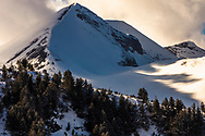Pirin Mountains coveres in snow at winter time