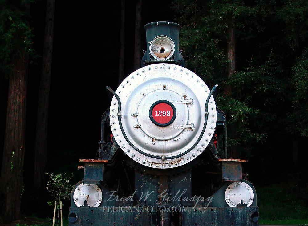 Southern Pacific Locomotive #1298 Santa Cruz CA