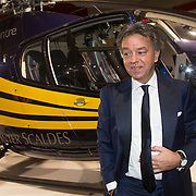 NLD/Amsterdam /20131212 - Vipnight Master of LXRY 2013 opening, Yves Gijrath in een helicopter