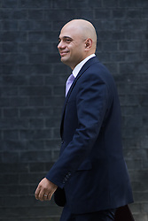 State for Business Secretary Sajid Javid arrives at Prime Minister David Cameron's final cabinet meeting following Theresa May's anticipated takeover as Leader of the Conservative Party and Prime Minister