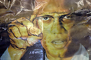 May 24, 2007, Picture of Malcom X found in a home destroyed by Hurricane Katrina in New Orleans.
