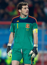 Goalkeeper of Spain Iker Casillas during the 2010 FIFA World Cup South Africa Group H Second Round match between Spain and Honduras on June 21, 2010 at Ellis Park Stadium, Johannesburg, South Africa.  Spain defeated Honduras 2-0. (Photo by Vid Ponikvar / Sportida)
