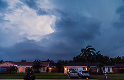 September 9, 2017 - Wellington, Florida, U.S. - A tornado warning over Wellington, Florida was issued at 7:30 Saturday night as feeder bands from hurricane Irma pass over central Palm Beach County. (Credit Image: © Allen Eyestone/The Palm Beach Post via ZUMA Wire)