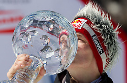 World Cup  Ski Jumping Overall Champion Thomas Morgenstern of Austria celebrates at flower ceremony after the Flying Hill Individual at 4th day of FIS Ski Jumping World Cup Finals Planica 2011, on March 20, 2011, Planica, Slovenia. (Photo by Vid Ponikvar / Sportida)