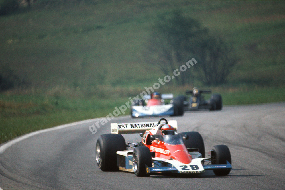 John Watson (Penske-Ford) in front of Ronnie Peterson (March-Ford) and Gunnar Nilsson (Lotus-Ford) during the 1976 Austrian Grand Prix at the Osterreichring. Photo: Grand Prix Photo