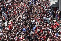 Arrivee au Stade Mayol Equipe Toulon et Trophee Champions Cup / Mourad Boudjellal  - 09.05.2015 - Toulon / Castres  - 24eme journee de Top 14 <br />Photo :  Alexandre Dimou / Icon Sport