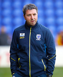 Warrington Wolves head coach Steve Price before the match against Huddersfield Giants, during the Betfred Super League match at the Halliwell Jones Stadium, Warrington.