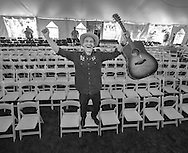 Steve Poltz after the Sunday session of the Sisters Folk Festival