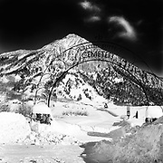 The cemetery gate in Crested Butte, CO.