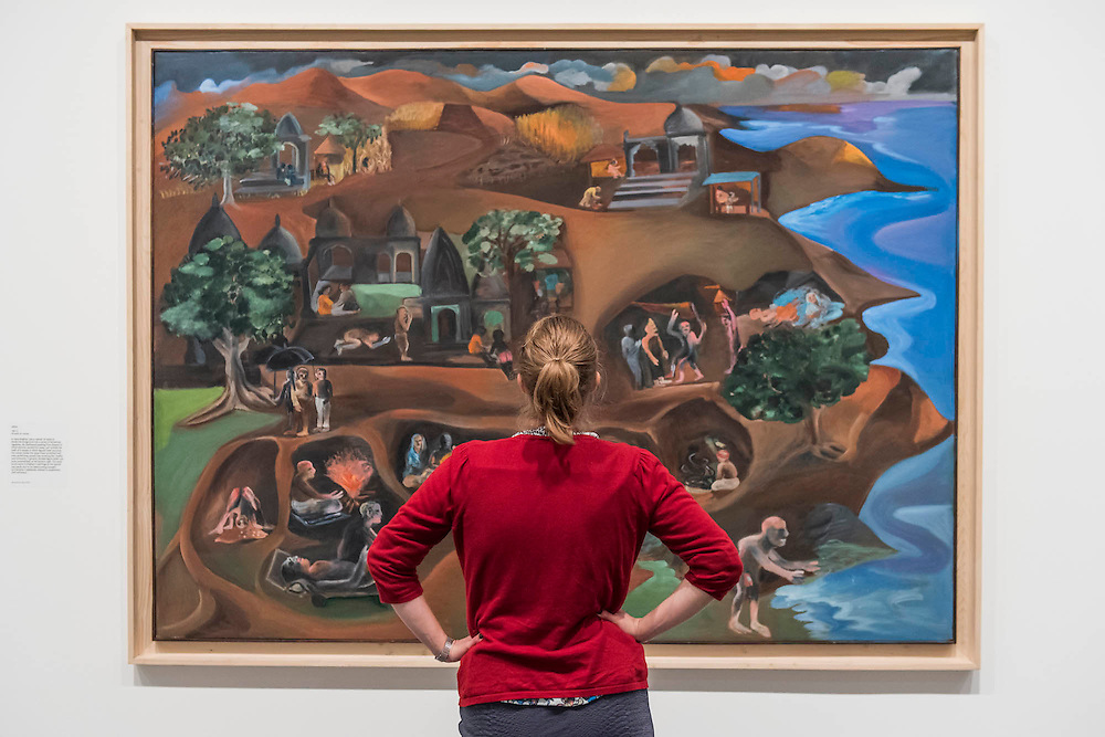 Jatra 1997-9 - Bhupen Khakhar: You Can't Please All at Tate Modern. It is the first international retrospective of the Indian artist since his death. He was known for his vibrant, bold works that examine class and sexuality. The Exhibition runs from 1 June – 6 November 2016.