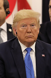 """Donald J. Trump (US President) - Side event organized by the Japanese Prime Minister, on the theme """"Promoting the place of women at work"""" at the Intex Osaka congress center at the G20 summit in Osaka, Japan, on June 29, 2019. Photo by Dominque Jacovides/Pool/ABACAPRESS.COM"""