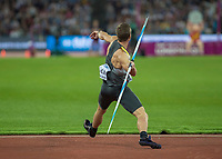 Athletics - 2017 IAAF London World Athletics Championships - Day Nine, Evening Session<br /> <br /> Mens Javelin Final<br /> <br /> Thomas Rohler (Germany) launches the javelin at the London Stadium<br /> <br /> COLORSPORT/DANIEL BEARHAM