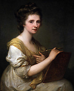 Maria Anna Angelika 1741 – 1807) Swiss-Austrian Neo-classical painter. Self Portrait