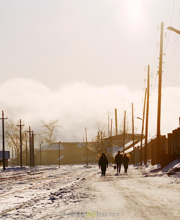 Early morning commuters, Irkutsk, Siberia, Russia