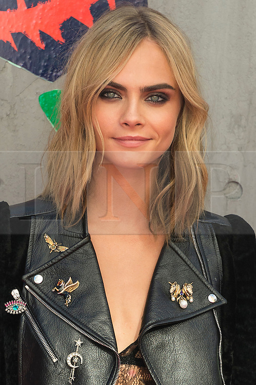 © Licensed to London News Pictures. 03/08/2016. CARA DELEVINGNE attends the Suicide Squad UK Film Premiere  London, UK. Photo credit: Ray Tang/LNP