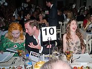 VIVIENNE WESTWOOD; JOSEPH FIENNES; ELIZABETH JAGGER, Chaos Point: Vivienne Westwood Gold Label Collection performance art catwalk show and auction in aid of the NSPCC. Banqueting House. London. 18 November 2008<br />