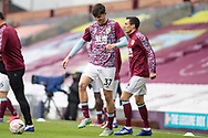Burnley defender Bobby Thomas (37) warming up before the FA Cup match between Burnley and Milton Keynes Dons at Turf Moor, Burnley, England on 9 January 2021.