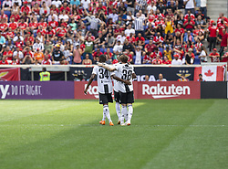 July 28, 2018 - Harrison, New Jersey, United States - Luca Clemenza (38) celebrates scoring goal during ICC game against Benfica at Red Bull Arena Juventus won 1 - 1 (4 -2) on penalties (Credit Image: © Lev Radin/Pacific Press via ZUMA Wire)
