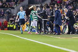 December 5, 2017 - Barcelona, Catalonia, Spain - Sporting CP defender Fabio Coentrao (5) during the match between FC Barcelona - Sporting CP, for the group stage, round 6 of the Champions League, held at Camp Nou Stadium on 5th December 2017 in Barcelona, Spain. (Credit Image: © NurPhoto via ZUMA Press)