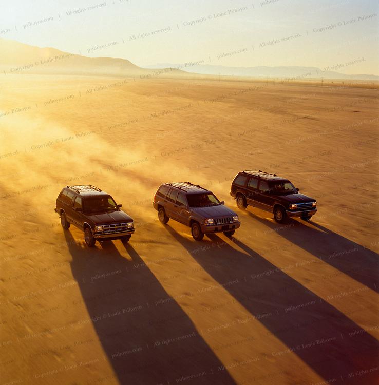 SUVs on the Flats.