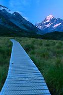 Oceania, New Zealand, Aotearoa, South Island, Otago, Mount Cook National Park, Hooker Valley trail