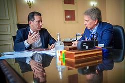 Prefeito de Porto Alegre Nelson Marchezan Junior durante reunião com o ex-Governador Germano Rigotto , no Paço Municipal. FOTO: Jefferson Bernardes
