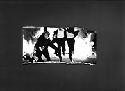Burning boat. Oriel college. 1984. . Test strip from the Oxford Box