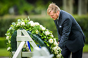 Margraten , 24-05-2020 , Ahoy Hallen , Koning aanwezig bij Memorial Day in Margraten.<br /> <br /> Koning Willem Alexander is ter gelegenheid van 75 jaar bevrijding van Nederland aanwezig bij Memorial Day op de Amerikaanse Begraafplaats Margraten. De Koning legt tijdens de herdenking de eerste krans. Vanwege de uitbraak van het coronavirus COVID-19  wordt de herdenking dit jaar in aangepaste verkorte vorm gehouden, zonder publiek.<br /> <br /> On the occasion of the 75th anniversary of the liberation of the Netherlands, King Willem Alexander will be attending Memorial Day at the American Cemetery Margraten. The King will lay the first wreath during the commemoration. Due to the outbreak of the coronavirus COVID-19, this year's commemoration will be held in an adapted abbreviated form, without an audience.