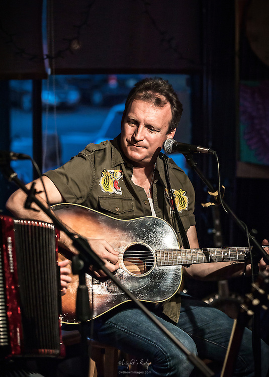 Steve McWilliams of The Hummingbirds during their perfomance at The Bus Stop Music Cafe in Pitman, NJ.