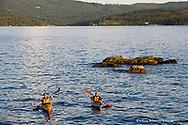 Sea kayakers on Lake Coeur d Alene in Idaho model released