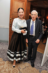The DOWAGER, VISCOUNTESS ROTHERMERE and LORD REES OF LUDLOW at the 4th Fortune Forum Summit held at The Dorchester Hotel, Park Lane, London on 4th December 2012.