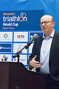 Press Conference held at the V&A Waterfront today for the upcoming Discovery Triathlon World Cup Cape Town. Image by Greg Beadle