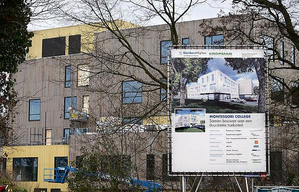 Nederland, Nijmegen, 4-1-2014De nieuwbouw van het Montessori college is bijna klaar.Foto: Flip Franssen/Hollandse Hoogte