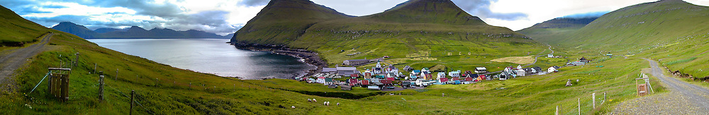 Faroe Islands. Gjogv on the northeast tip of the island of Eysturoy.