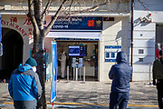 People are waiting for getting tested for Covid-19 at a testing station at Wenceslas Square. On March 1st, 2021 the state of emergency in the Czech Republic was reinstalled because of fast increasing numbers in infections. The lockdown was reinstated and the restriction of the free movement of people has taken effect. Currently, the country remains at the highest stage of the anti-epidemiological system and the newly imposed restriction will last at least three weeks to curb the epidemic.