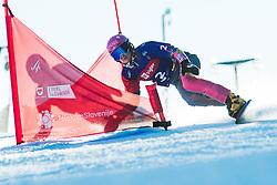 Ramona Theresia Hofmeister (GER) during parallel slalom FIS Snowboard Alpine World Championships 2021 on March 2nd 2021 on Rogla, Slovenia. Photo by Grega Valancic / Sportida