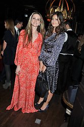 Left to right, BRYONY DANIELS and LADY NATASHA RUFUS-ISAACS at the launch of the Johnnie Walker Blue Label Club held at The Scotch, Mason's Yard, London on 1st May 2012.
