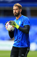 Birmingham City goalkeeper Adam Legzdins during the warm up