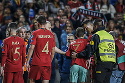 March 22, 2019 - Na - Lisbon, 03/22/2019 - The Portuguese Football Team received their Ukrainian counterpart this afternoon at the Estádio da Luz in Lisbon, in the Group B game, in the qualifying round for the European Championship in 2020. Cristiano Ronaldo with an adept invaded the field  (Credit Image: © Atlantico Press via ZUMA Wire)