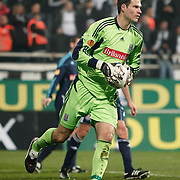 Stoke City's goalkeeper Asmir Begovic during their UEFA Europa League Group Stage Group E soccer match Besiktas between Stoke City at Inonu stadium in Istanbul Turkey on Wednesday December 14, 2011. Photo by TURKPIX