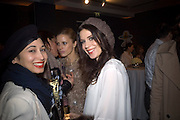 Hannah Bhuiyo, Laura Bailey and Lara Bohinc, Unveiling of the Vivienne Westwood Opus. Hosted by Vivienne Westwood and Karl Fowler of Kraken Opus. Serpentine Gallery. London. 12 February 2008.  *** Local Caption *** -DO NOT ARCHIVE-© Copyright Photograph by Dafydd Jones. 248 Clapham Rd. London SW9 0PZ. Tel 0207 820 0771. www.dafjones.com.