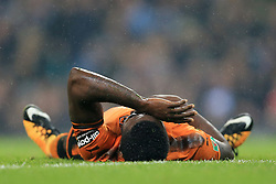 24th October 2017 - Carabao Cup (4th Round) - Manchester City v Wolverhampton Wanderers - Bright Enobakhare of Wolves looks dejected after missing a one-on-one chance - Photo: Simon Stacpoole / Offside.
