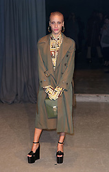 Adwoa Aboah attending the Burberry London Fashion Week Show at Makers House, Manette Street, London